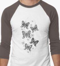 Just Add Colour -Butterfly Sparkle Baseball ¾ Sleeve T-Shirt