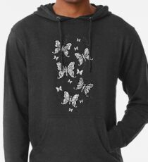 Just Add Colour -Butterfly Sparkle Lightweight Hoodie