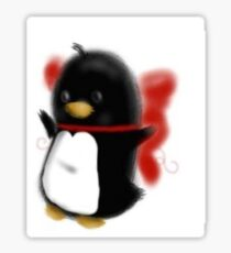 Bowed up Penguin party Sticker