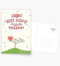 Hase mit Herz – verliebt Postkarten