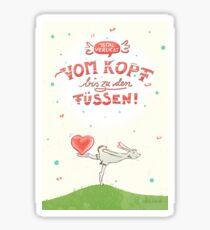 Hase mit Herz – verliebt Sticker