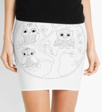 Just Add Colour - Tree of Knowledge  Mini Skirt