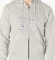 Just Add Colour - Tree of Knowledge  Zipped Hoodie