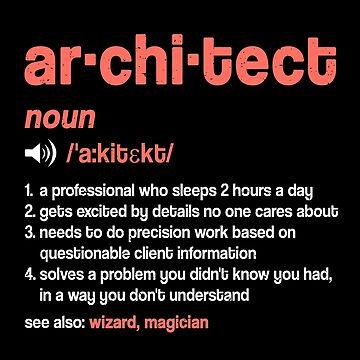 Architect Definition T-Shirt Funny Architect Job Description Shirt as a gift idea by MrTStyle