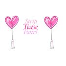 "Heart Pasties ""Strip Tease Twirl"" Burlesque Design by PonyPoison"