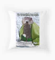 It's Groundhog Day Again Throw Pillow