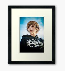 Blue halo Framed Print