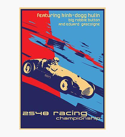post futurist communist racing poster Photographic Print