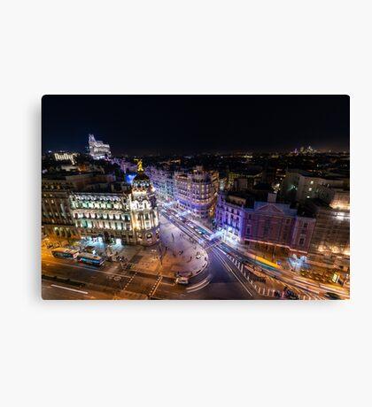 Madrid - Christmas Light Canvas Print
