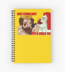 The King vs The Clown Spiral Notebook