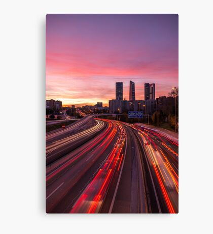 Madrid - Rush Hour Canvas Print