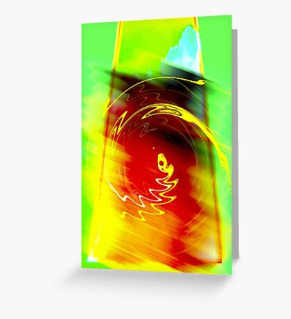 ancient reptile... an abstract dream sequence Greeting Card