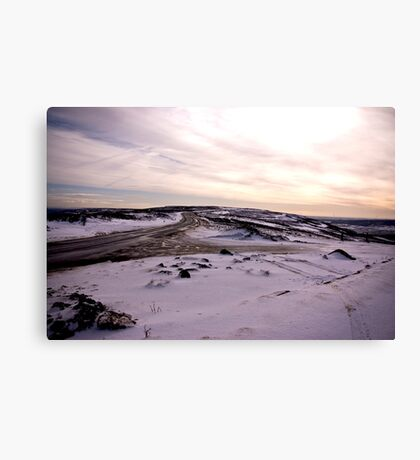 A Winters Road Canvas Print