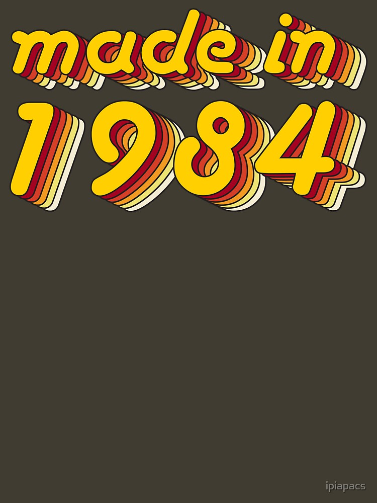 Made in 1984 (Yellow&Red) by ipiapacs