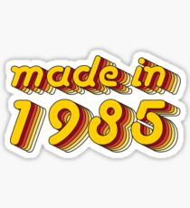 Made in 1985 (Yellow&Red) Sticker