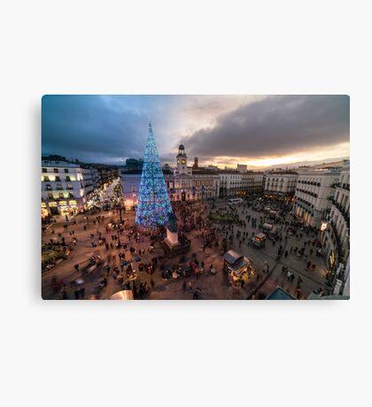 Madrid - Puerta del Sol Canvas Print