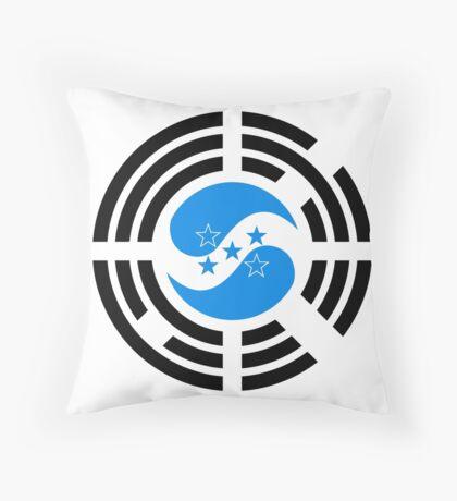 Korean Honduran Multinational Patriot Flag Series Throw Pillow