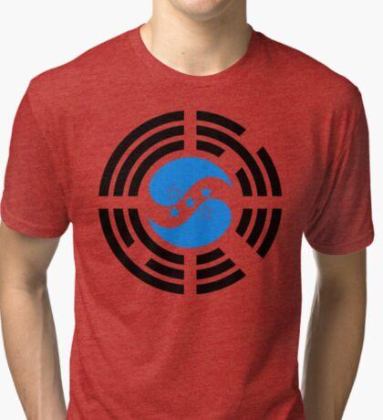 Korean Honduran Multinational Patriot Flag Series Tri-blend T-Shirt