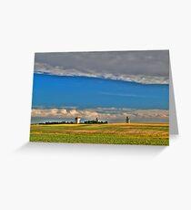 Elevators in the prairies Greeting Card