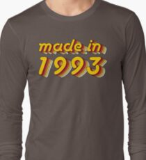 Made in 1993 (Yellow&Red) Long Sleeve T-Shirt