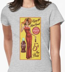 Coca Cola Red Womens Fitted T-Shirt