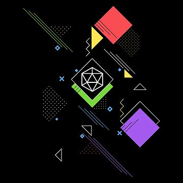 Colorful Geometry D20 Dice Tabletop RPG Addict by pixeptional