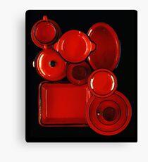 Red Kitchenware Canvas Print
