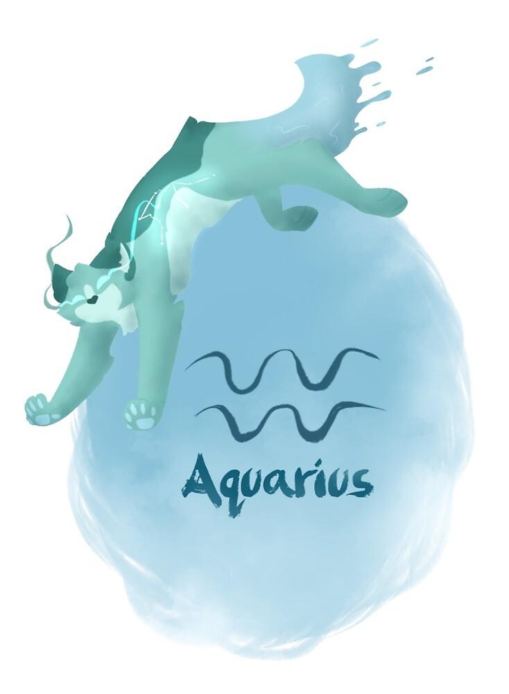 Aquarius Symbol Cat