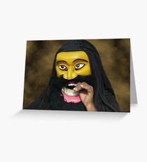 Sri lanka mask greeting cards redbubble sri lanka cultural human face mask rsion onepillow tote bag m4hsunfo