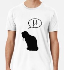 Physics Cat and Friction Coefficient Men's Premium T-Shirt
