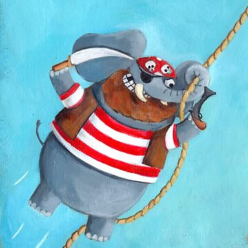 Pirate Elephant by colonelle