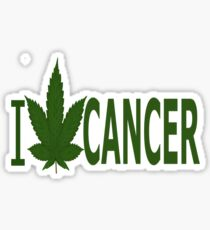 I Hate Cancer Sticker