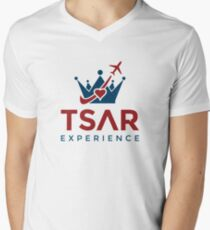 Tsar Experience Logo sans Circle design Men's V-Neck T-Shirt