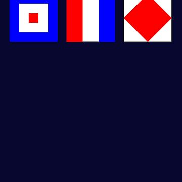 WTF What The Fuck Nautical Signal Flags by highparkoutlet
