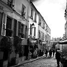 Street of Montmarte by Kingston  Liu