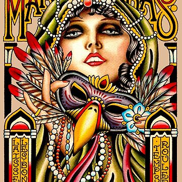 MARDI GRAS; Vintage New Orleans Art Deco Print by posterbobs