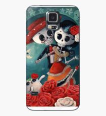 Dia de Los Muertos Couple of Skeleton Lovers Case/Skin for Samsung Galaxy