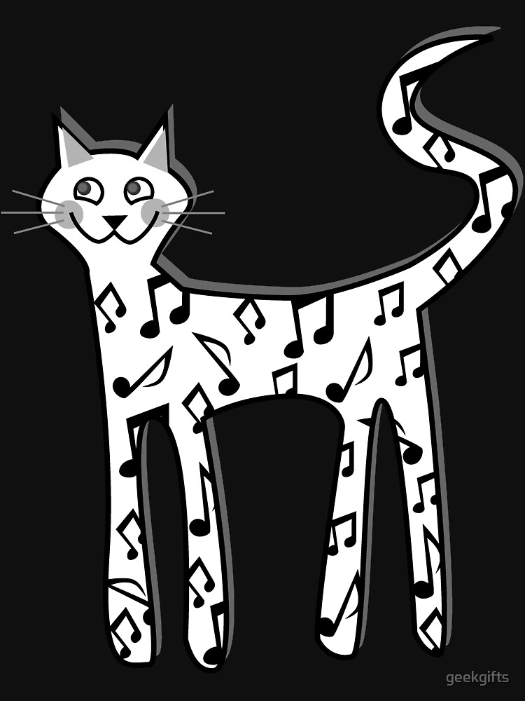 Musical note cat by geekgifts