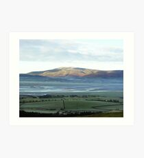 View from on Kirby moor, Cumbria. Art Print