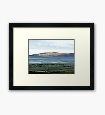 View from on Kirby moor, Cumbria. Framed Print