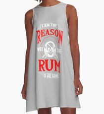 Rum Pirate Alcohol Beer Party Captain Drink Gift A-Line Dress