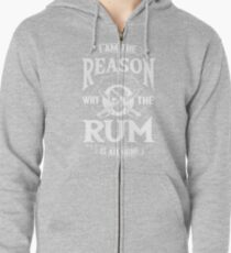 Rum Pirate Alcohol Beer Party Captain Drink Gift Zipped Hoodie