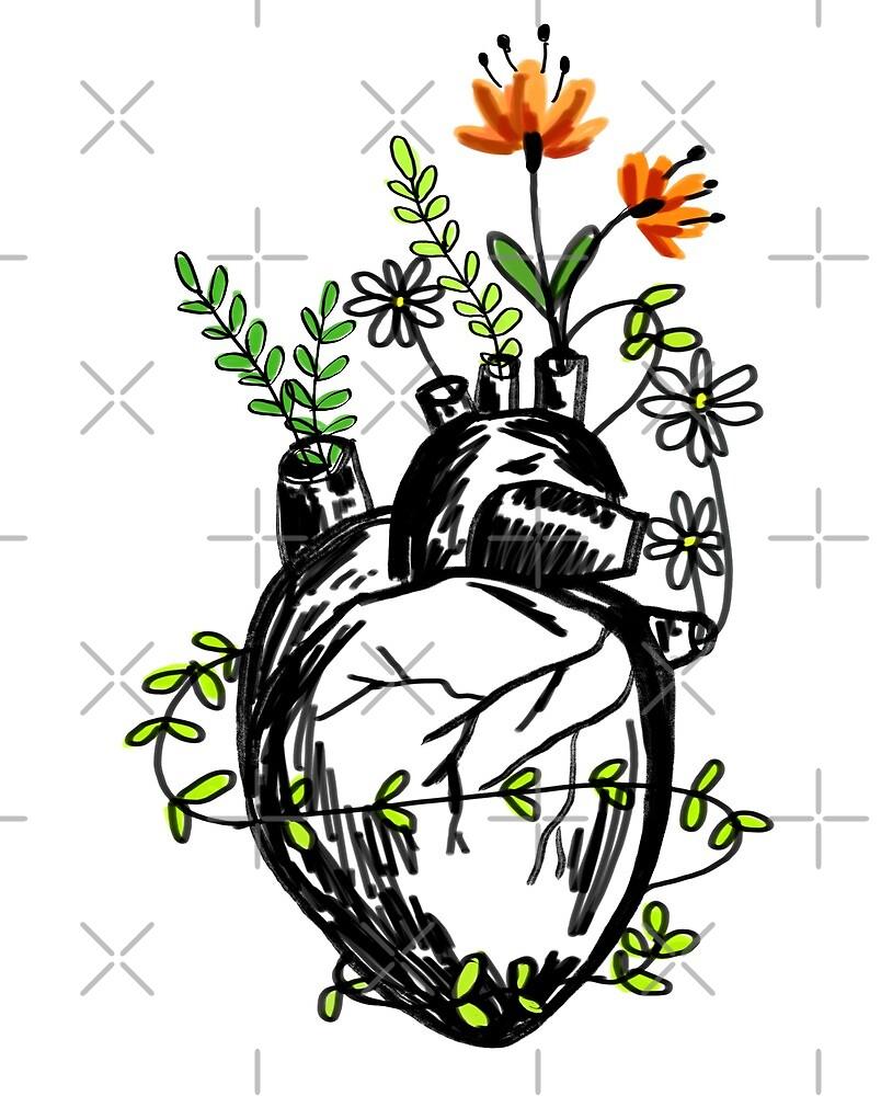 «Corazón floreciente» de KaylaPhan