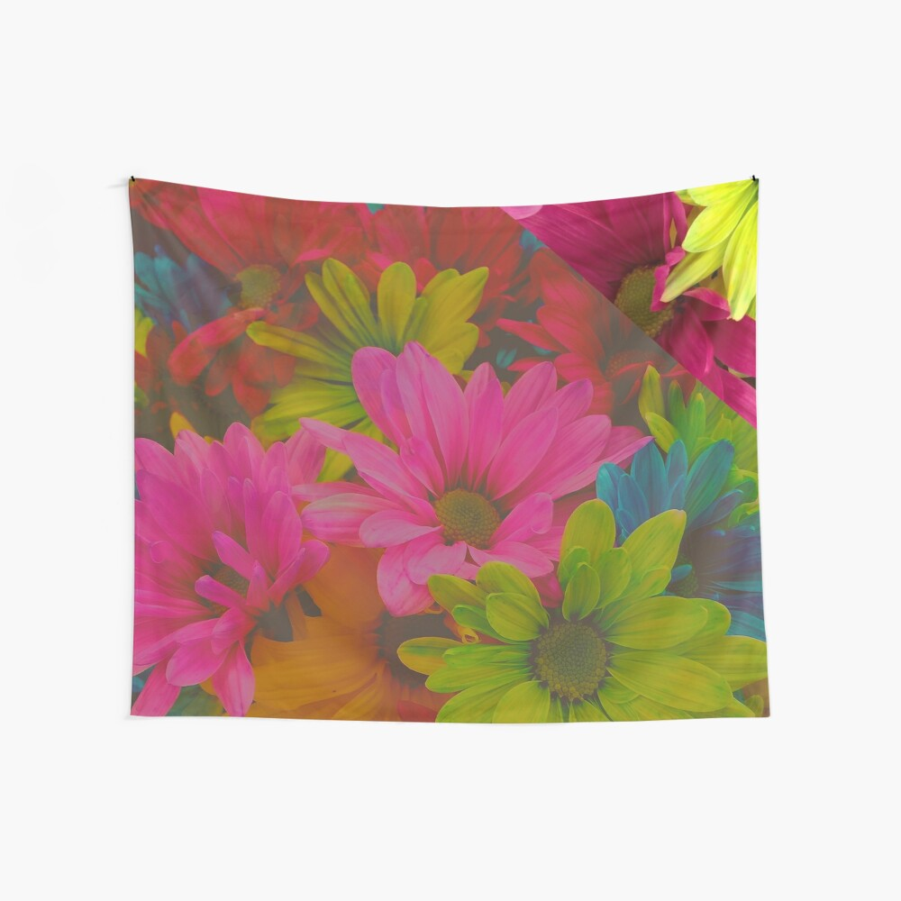 Bright Floral Dreams Neon Flowers by xpressio