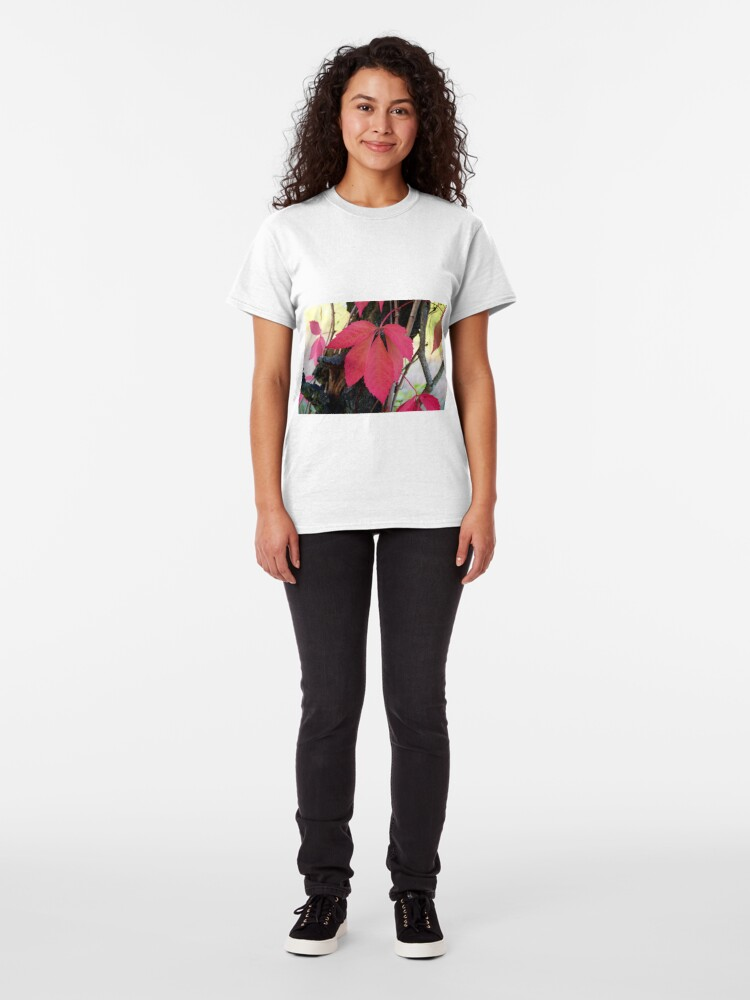 Alternate view of Vines with red leaf Classic T-Shirt
