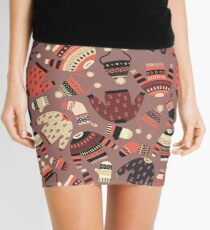 Warm knitted Winter wear seamless pattern Mini Skirt