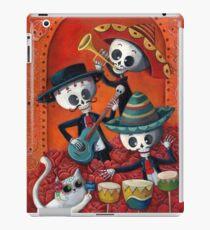 Vinilo o funda para iPad Dia de Los Muertos Skeleton Musicans