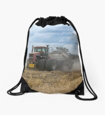 Dusty Job ...Ploughing ...Case Does It Easy.... Drawstring Bag