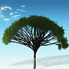 Tree and Blue Sky by Looly Elzayat