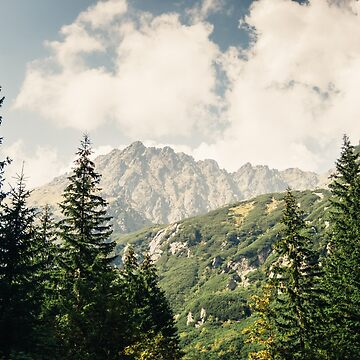 Green Forest and Mountains by PatiDesigns